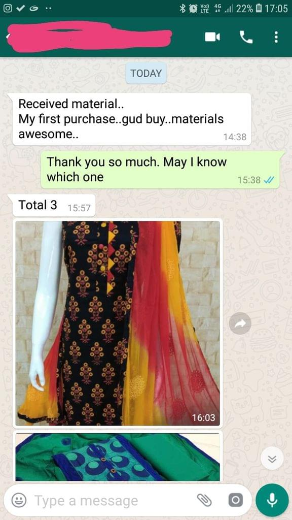 Received material... My first purchase... Good buy... Material awesome. -Reviewed on 02-April-2019