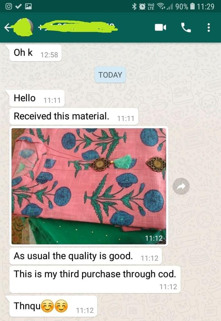 Received this material... As usual the quality is good... This is my third purchase through good... Thank you. -Reviewed on 10-April-2019