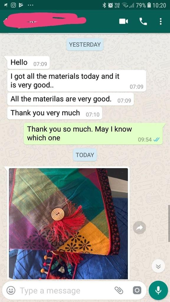 I got all the materials today... And it is very good... All the materials are very good... Thank you very much. -Reviewed on 11-April-2019