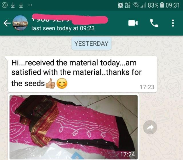 Received the material today... I'am satisfied with the material... Thanks for the seeds... Good. -Reviewed on 23-April-2019