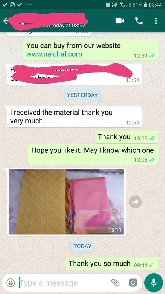 I received the material... Thank you very so much. -Reviewed on 23-April-2019