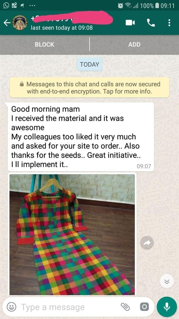 I received the material... And it was awesome... My colleagues too like it very much... And asked for your site to order... Also thanks for the seeds... Great initiative... I will implement it. -Reviewed on 26-April-2019