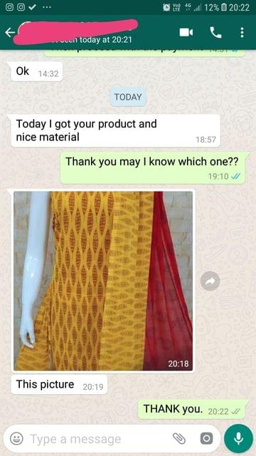 Today i got your product... And nice material. -Reviewed on 03-May-2019
