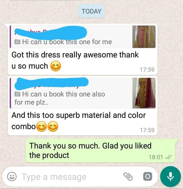 I got this dress really awesome... Thank you so much... And this too superb material... And color combo. -Reviewed on 07-Jun-2019
