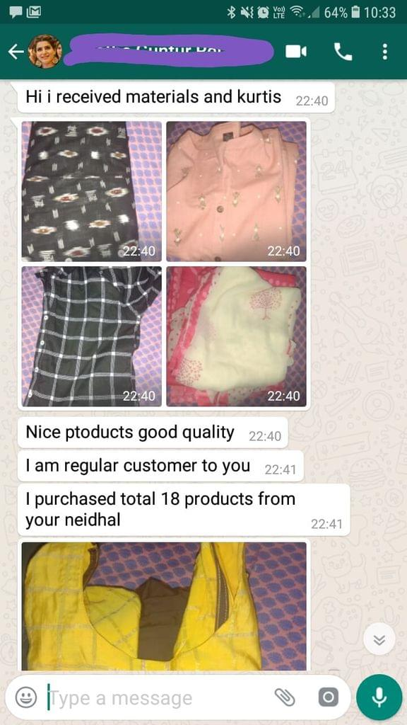 Nice products good quality... I'am regular customer to you... I purchased total 18 products from you Neidhal. -Reviewed on 28-Jun-2019