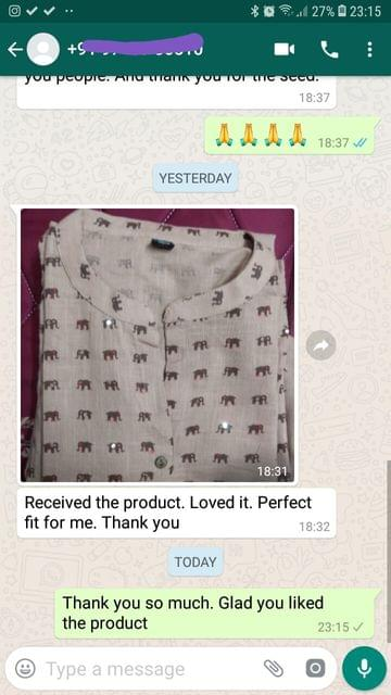 Received the product... Loved it... Perfect fit for me... Thank you. -Reviewed on 04-Jul-2019