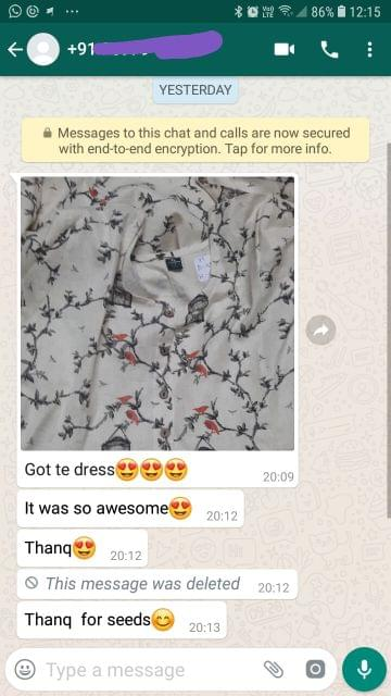 I got the dress... It was so awesome... Thank you... Thank you for the seeds. -Reviewed on 11-Jul-2019