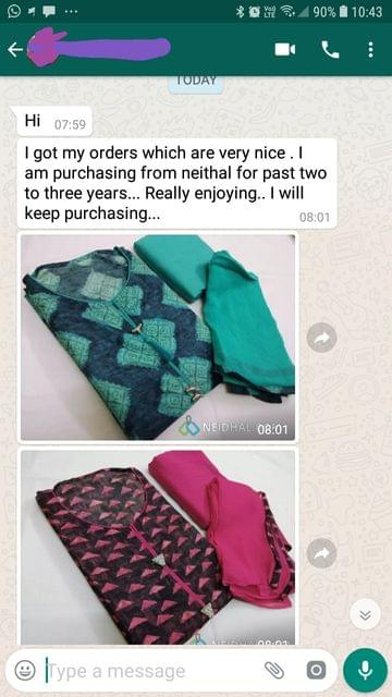 """I got my order which are very nice... I'am purchasing from """"Neidhal"""" for past two to three years... Really enjoying... I will keep purchasing... Thank you. -Reviewed on 26-July-2019"""