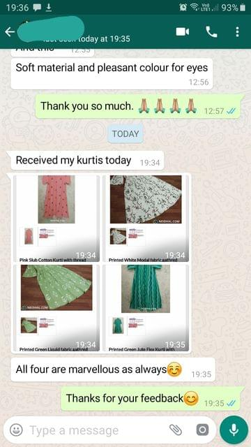 I received my Kurtis today...All four are marvelous as always... Very nice.  -Reviewed on 08-Aug-2019