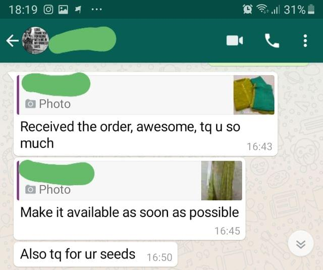 I received the order... Very awesome... Thank you so much... Make it available as soon possible... Also thank you for your seeds. -Reviewed on 26-Aug-2019