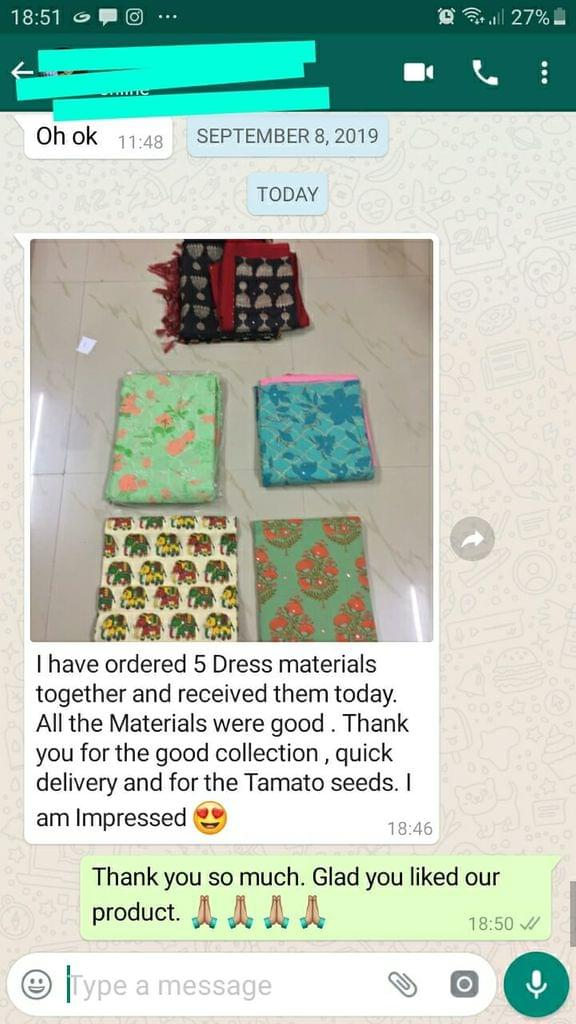 I have ordered 5 materials together and received them today. All materials were good. Thank you for good collection and quick delivery. I am impressed. -Reviewed on 12-Sep-2019