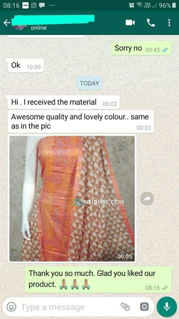 Awesome quality and lovely color. Same as in pic. -Reviewed on 13-Sep-2019