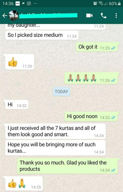 I just received all the 7 kurtis and all of them look good and smart. -Reviewed on 18-Sep-2019