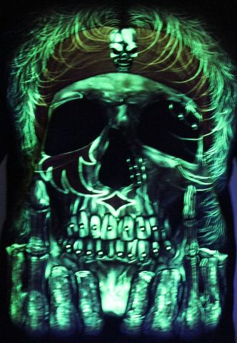 Brutal Rebel - Glow in the Dark Radium Neon UV High definition 3D Club Tshirt Buy Online in India