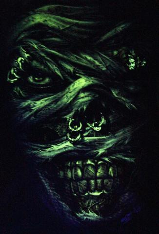 I kill you -  Glow in the Dark Radium Neon UV High definition 3D Club Biker Tattoo Tshirt Buy Online in India