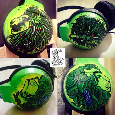 Rasta and Tribal with go green color  Headphones- Philips SHP1900