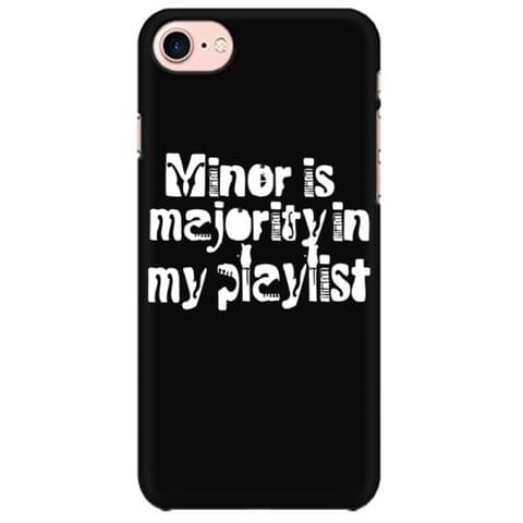 Minor is Majority in my Playlist Mobile back hard case cover - ZQ9DWXN35L3P