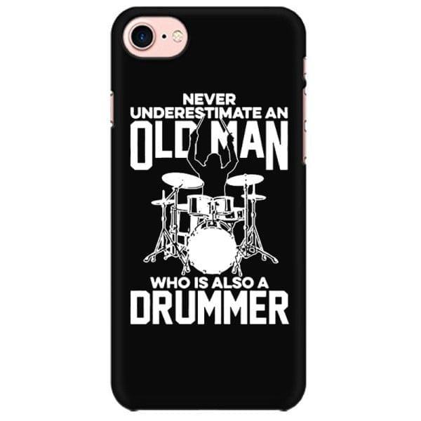 Never Underestimate a Drummer  Mobile back hard case cover - QC9CK59P72VB5JJ