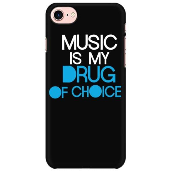 Music is my Drug of Choice Mobile back hard case cover - MST6T3FRQRDL