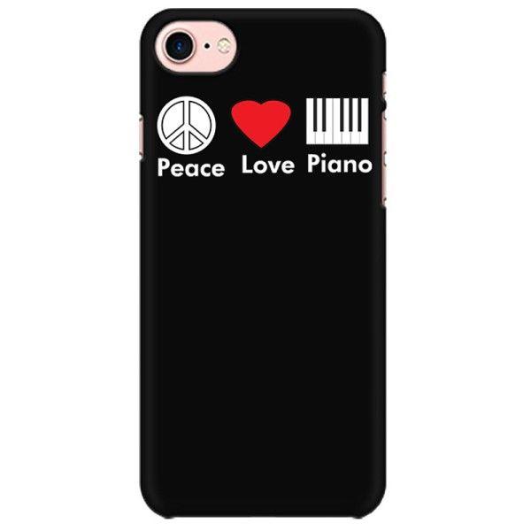 Peace Love Piano Mobile back hard case cover - GX6TSH8Z95CA