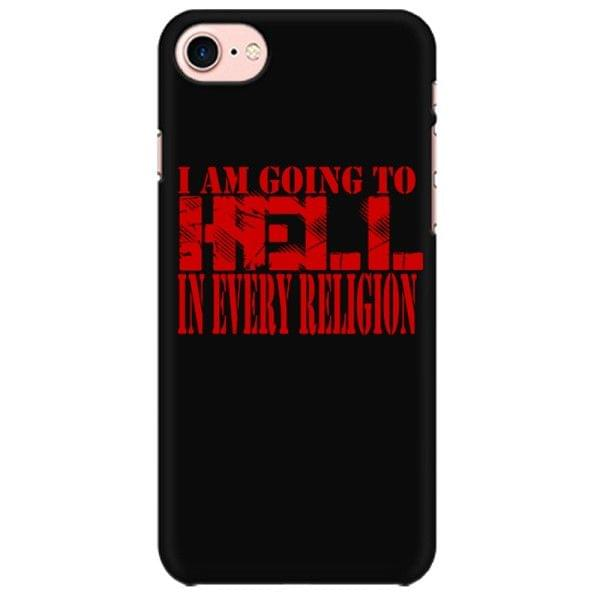 Going to hell in Every Religion - Rebel Metal Mobile back hard case cover - ADBNQY8LWQJP