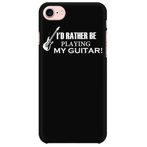I'd rather be playing my guitar Mobile back hard case cover - 9BH8MCZXUM6F