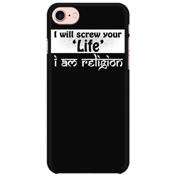 Religion will screw Life Mobile back hard case cover - 6QPBUWFR7963