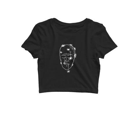 Mind is dead Trip psy Trippy Psychedelic   Croptop for music lovers