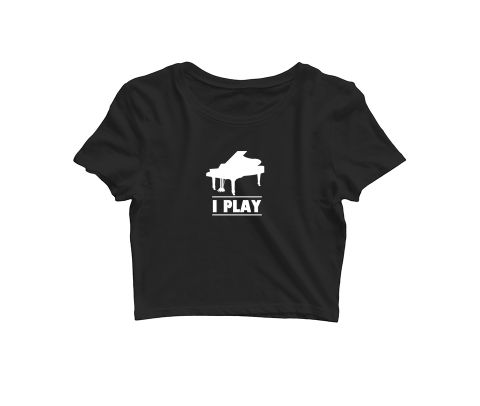 I play Piano   Croptop for music lovers