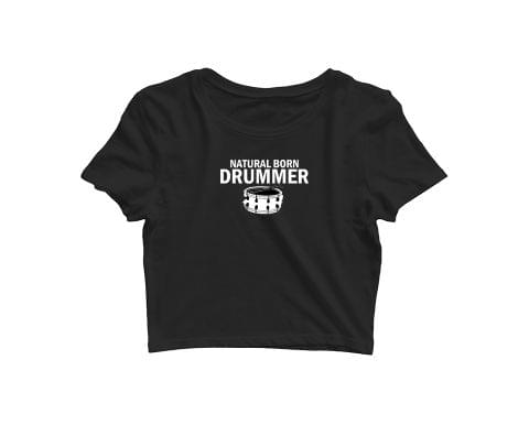 Born as Drummer   Croptop for music lovers