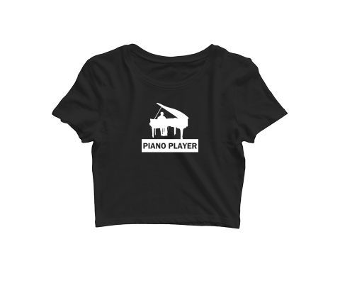 Piano Player   Croptop for music lovers