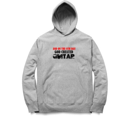 God Created Guitar   Unisex Hoodie Sweatshirt for Men and Women