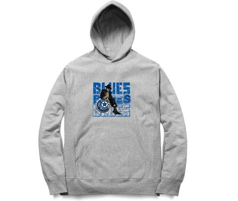Blues Blues Blues   Unisex Hoodie Sweatshirt for Men and Women