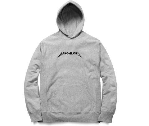 Bangalore Metallica Love   Unisex Hoodie Sweatshirt for Men and Women