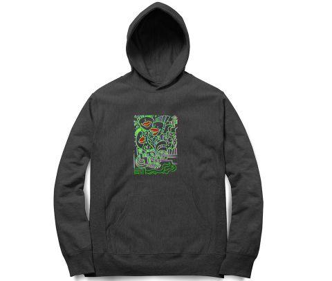Trip with Filth Trippy Art   Unisex Hoodie Sweatshirt for Men and Women