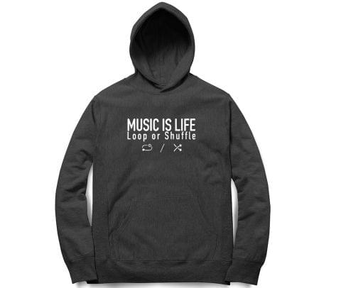 Music is life   Unisex Hoodie Sweatshirt for Men and Women