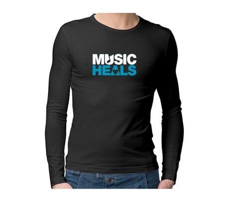 Music Heals  Unisex Full Sleeves Tshirt for men women
