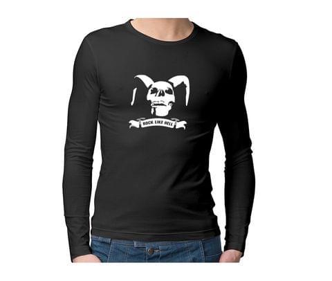 Rock IT like HELL  Unisex Full Sleeves Tshirt for men women