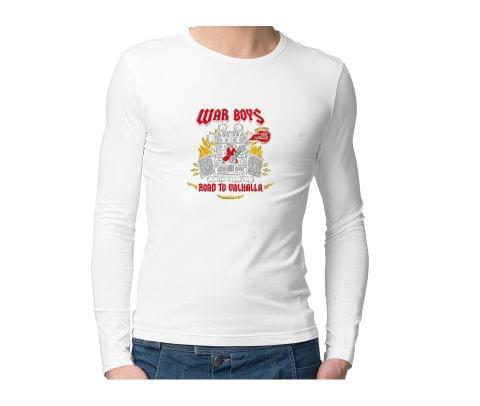 War Boys   Road to Valhalla Unisex Full Sleeves Tshirt for men women