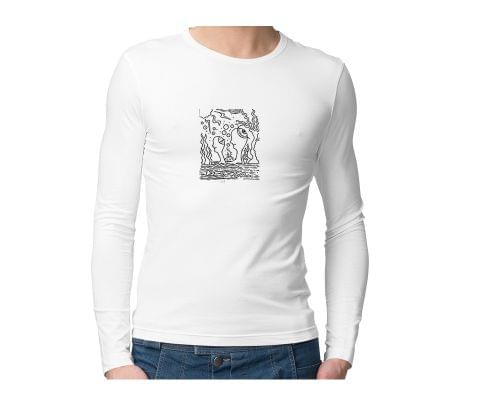 Ocean of Thoughts in Storm Trip psy Trippy Psychedelic  Unisex Full Sleeves Tshirt for men women