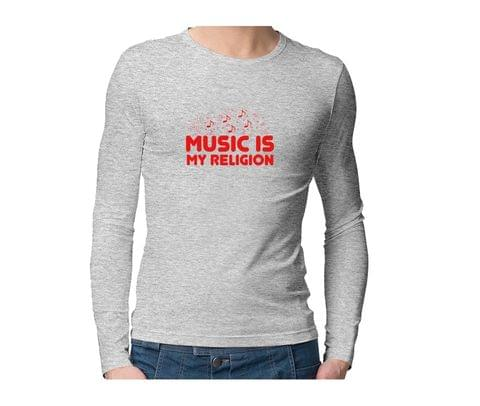 Music is my Religion  Unisex Full Sleeves Tshirt for men women