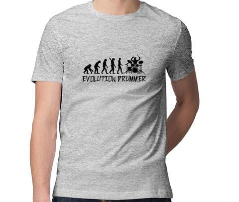 Evolution of Beats   Drummer Men Round Neck Tshirt