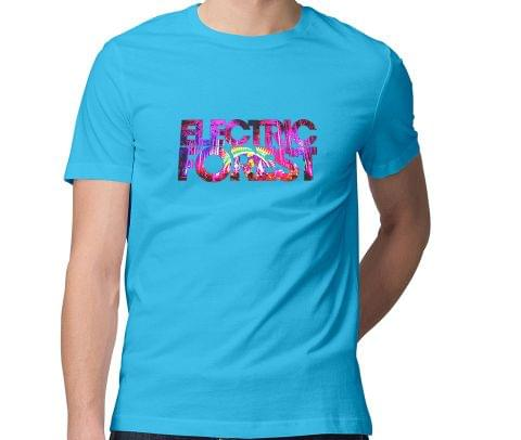 Electronic Forest  Dubstep House Progressive Trance Hardstyle Drum Bass Electro Industrial Rave Men Round Neck Tshirt