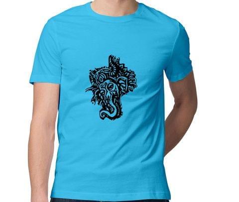 Psy Ganesha Tshirt  Men Round Neck Tshirt