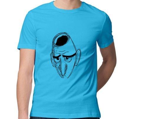 Hollow Mind psy Trippy Psychedelic  Men Round Neck Tshirt