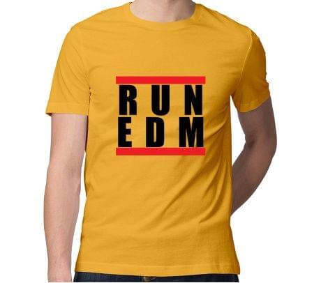 Run EDM New Design  Men Round Neck Tshirt