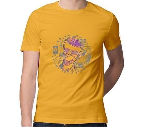 A happy Trip ver 2 Trippy Art  Men Round Neck Tshirt