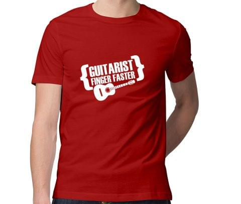 Guitarist Finger Faster  Men Round Neck Tshirt