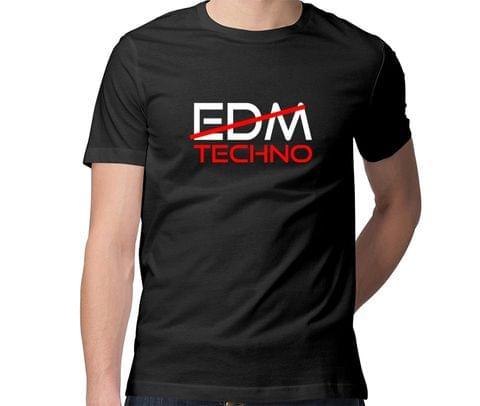 Techno  Men Round Neck Tshirt