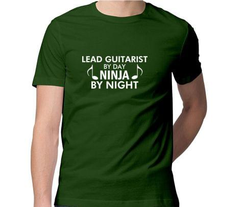 Lead Guitarist by Day   Ninja by Night Men Round Neck Tshirt